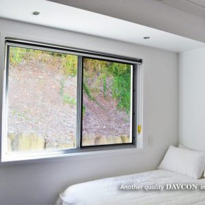 Crimsafe security windows installed in bedroom
