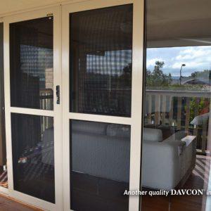 Sliding crimsafe seucirty doors installed on back door