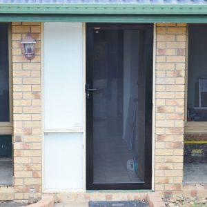 Crimsafe Ultimate black hinged door