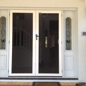 White Crimsafe security ultimate doors